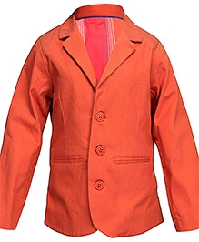 ShopperTree Orange Full Sleeves Blazer