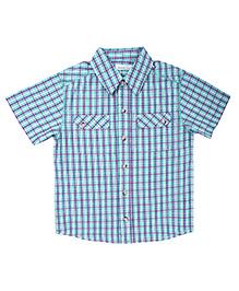 Shopper Tree Half Sleeves Checked Shirt - Front Dual Pockets