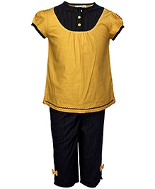 ShopperTree Yellow Short Sleeves Night Suit