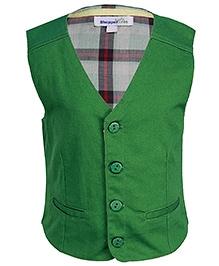 ShopperTree Green Sleeveless Waistcoat
