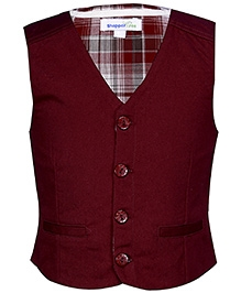 ShopperTree Maroon Sleeveless Waistcoat