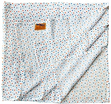 BumChum Organic Muslin Wrapping Blanket - Orange Polka