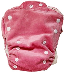 BumChum Natural Cotton Diaper With Two Insert - Natural Pink