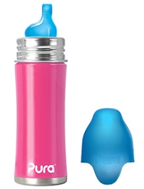 Pura Stainless Steel Sipper with XL Spout Pink - 11 Oz