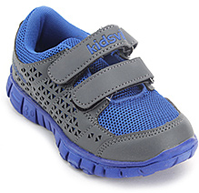 Kids Ville Net Upper Velcro Strap Sports Shoes - Blue