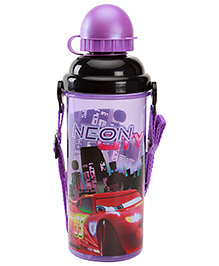 Disney Pixar Cars Sipper Bottle With Detachable Strap Dark Purple 700 Ml - 7 X 7 X 23 Cm
