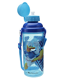 Disney Sipper Bottle 700 ml Donald Duck Sky Blue 7 x 7 x 23 cm, Lightweight plastic water bottle with attached cap