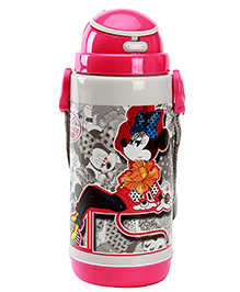 Mickey Mouse And Friends Sipper Bottle With Detachable Strap Pink 700 Ml - 7.5 X 7.5 X 21 Cm