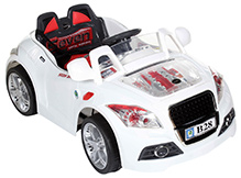 Fab N Funky Battery Operated Ride On with RC White - B 28