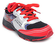 Spider Man Shinny Upper Sports Shoes - Tri Colour