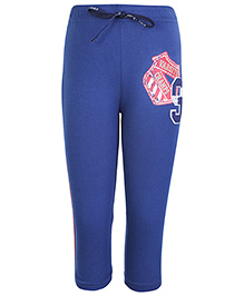 Kids Today Blue Full Length Legging - Varsity Print