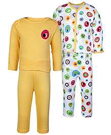 Morisons Baby Dreams Yellow Full Sleeves T Shirt And Leggings - Set Of Two