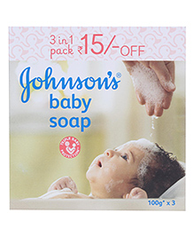 Johnson and Johnson Baby Soap 3 in 1 Pack - 100 Grams