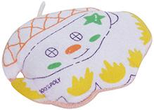 Baby Print Bath Sponge - Orange and Yellow