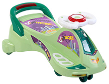 Toyzone Magic City Swing Car  - Green - 28 x 37 x 41 cm