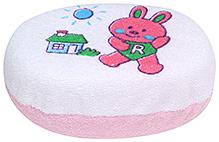 Rabbit Print Bath Sponge - Pink - 12 X 7.5 X 5 Cm