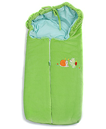 Montaly Squirrel and Snail Print Baby Sleeping Bag - Green