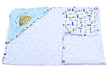 Montaly Fun Ride Fun Play Hooded Baby Towel - Blue