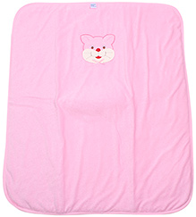 Montaly Cat Embroidery Baby Wrap - Pink