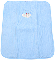 Montaly Cat Embroidery Baby Wrap - Blue