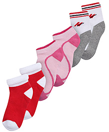 Mustang Multi Color Ankle Length Sports Socks - Pack Of Three