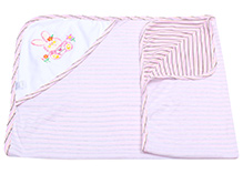 Montaly Hooded Baby Towel - Light Pink