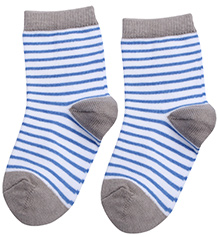Mustang Stripes Print Ankle Length Socks - Grey