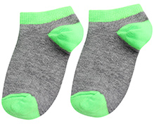 Mustang Dual Color Ankle Length Socks - Green