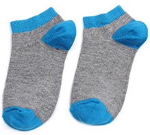 Mustang Dual Color Ankle Length Socks - Blue