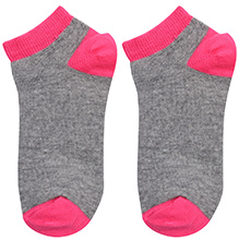 Mustang Dual Color Ankle Length Socks - Pink