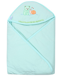 Montaly Hooded Baby Towel - Bottle Green
