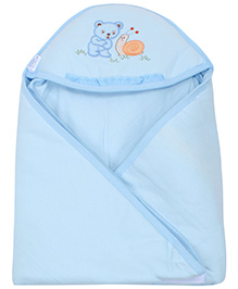 Montaly Hooded Baby Towel - Blue