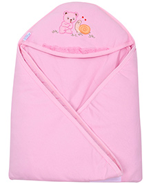 Montaly Hooded Baby Towel - Pink