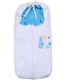Rabbit Print Baby Sleeping Bag - Blue