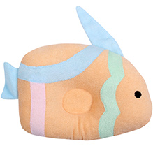 Fish Shaped Baby Soft Pillow - Light Orange