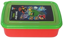 Angry Bird Space Lunch Box - Red and Green
