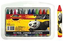 Kung Fu Panda 12 Pieces Jumbo Crayon