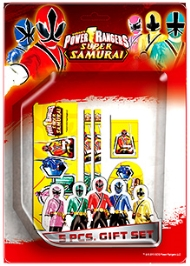 Power Ranger Samurai 5 Piece Gift Set - Design 2