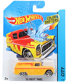 Hotwheels 55 Chevy Panel Van Yellow - Color Shifter