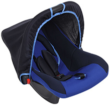 Dual Colour Carry Cot With Canopy Blue - Upto 9 Kg