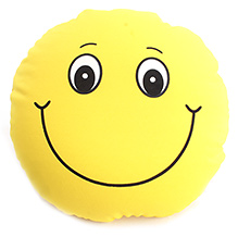 Dimpy Stuff Smiley Cushion  - Yellow