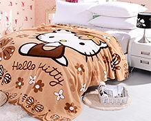 Rc Tots Hello Kitty Brown Plush Fleece Sheet
