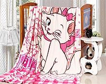 Rc Tots Pink Bow Kitty Cat Fleece Sheet