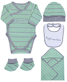Papple Multipieces Onesie Set - Grey & Green