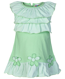SAPS Sleeveless 3 Layered Bodice Frock - Green