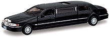 Kinsmart 1999 Lincoln Town Car Stretch Limousine Diecast Car Model