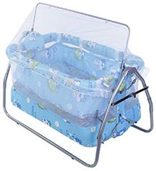 Mee Mee Baby Cradle Blue Baoheng Baby Print