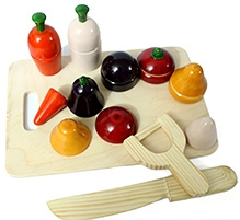 AATIKE Little Chef Wooden Cutting Play Set
