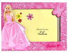 Barbie Butterfly Design Pink Photo Frame