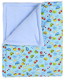 Carters Baby Blanket Vehicle Print Blue